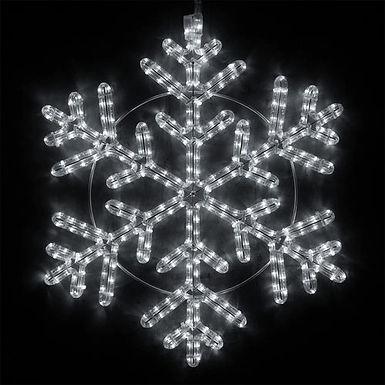Snowflake, Cool White Lights