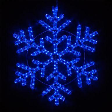 42 Point Snowflake, Blue Lights