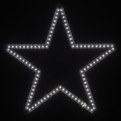 Ultra Bright SMD 5 Point Star Light, Cool White Lights