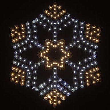 Ultra Bright SMD 36 Point Snowflake, Cool and Warm White Lights