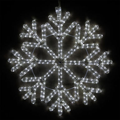40 Point Snowflake, Cool White Lights