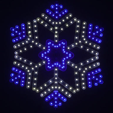 Ultra Bright SMD 36 Point Snowflake, Blue and Cool White Lights