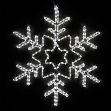 Star Center Snowflake, Cool White Lights