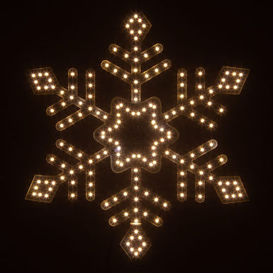 Ultra Bright SMD Diamond Tipped Snowflake, Warm White Lights