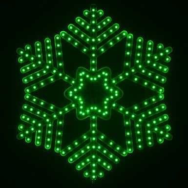 Ultra Bright SMD 36 Point Snowflake, Green Lights
