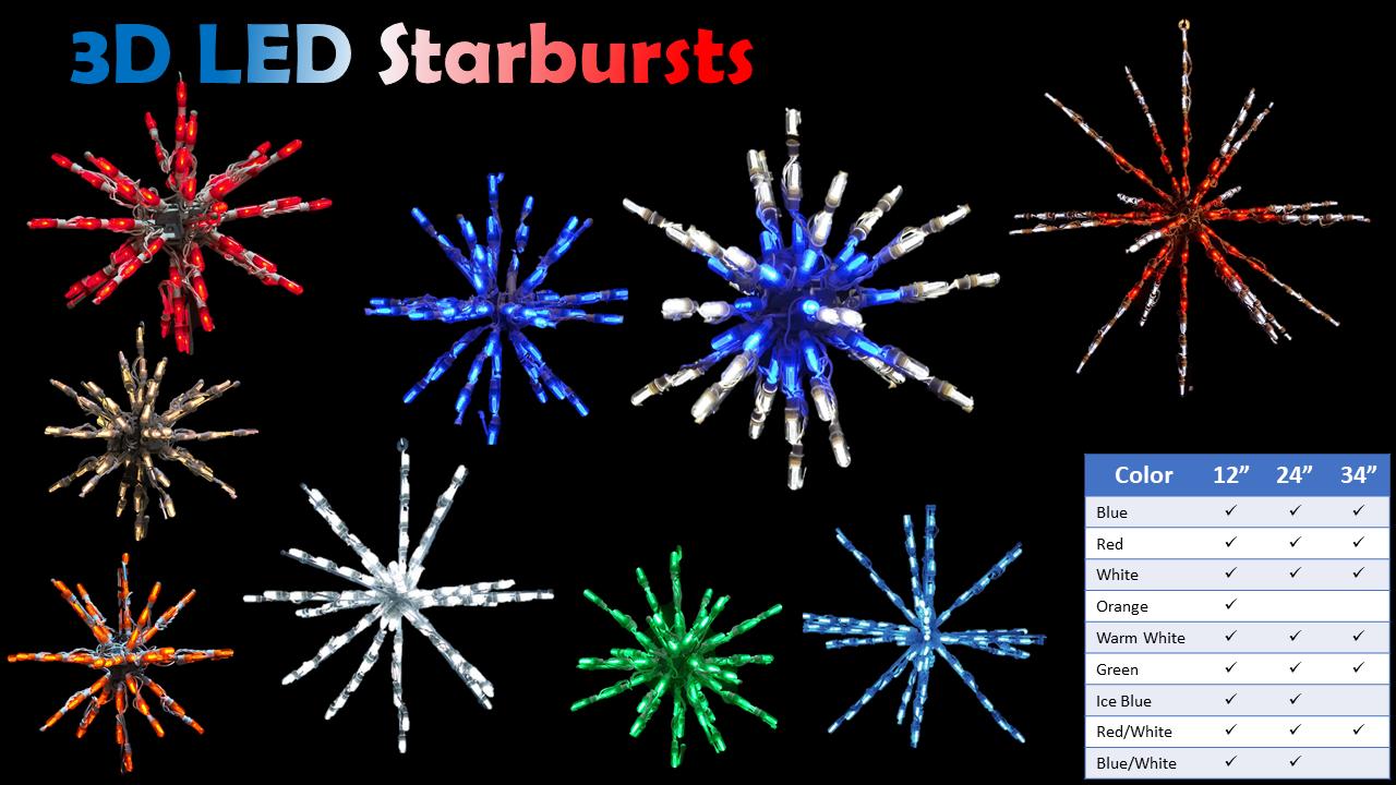 3D LED Starbursts