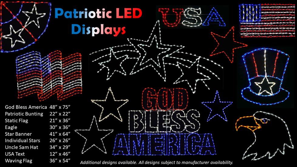 Patriotic LED Displays