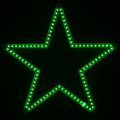 Ultra Bright SMD 5 Point Star Light, Green Lights