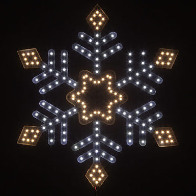 Ultra Bright SMD Diamond Tipped Snowflake, Warm and Cool White Lights