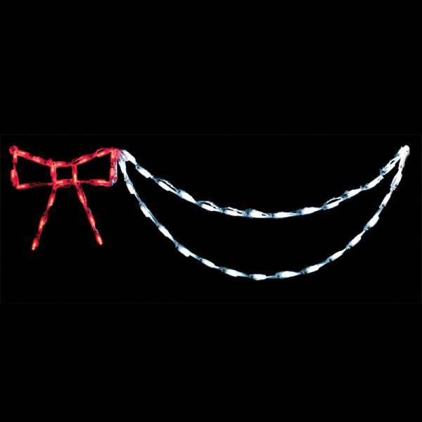 Bow With Garland (Red/White)