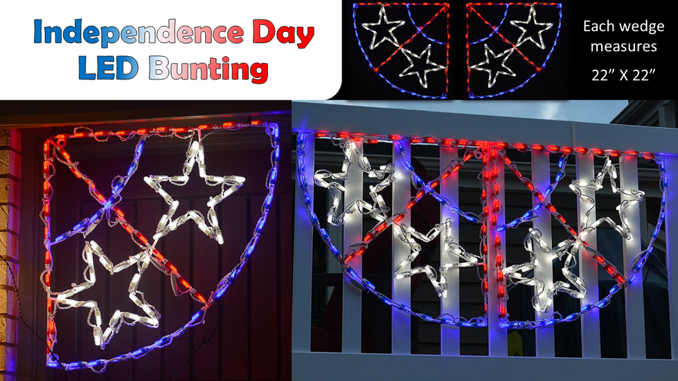 Independence Day LED Bunting