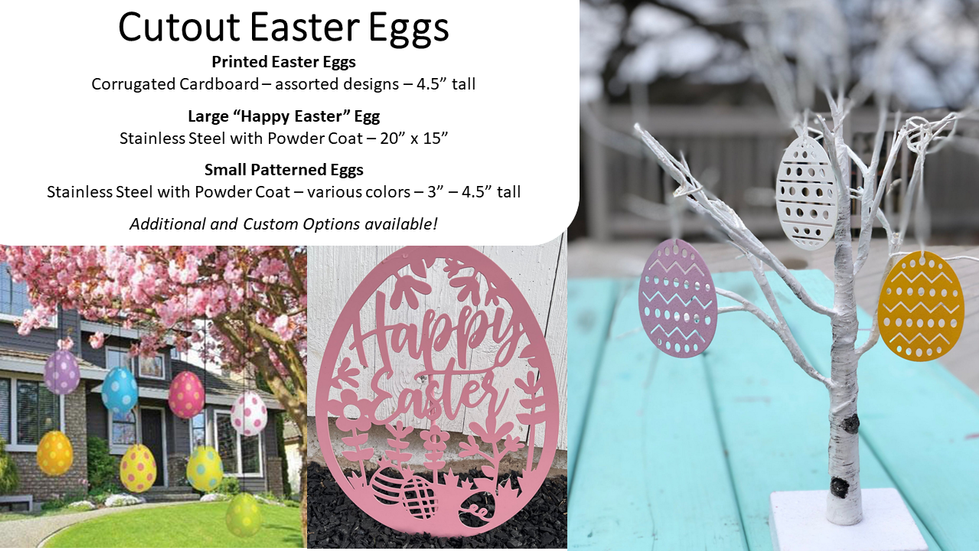 Cutout Easter Eggs