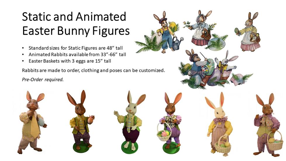 Easter Bunny Figures