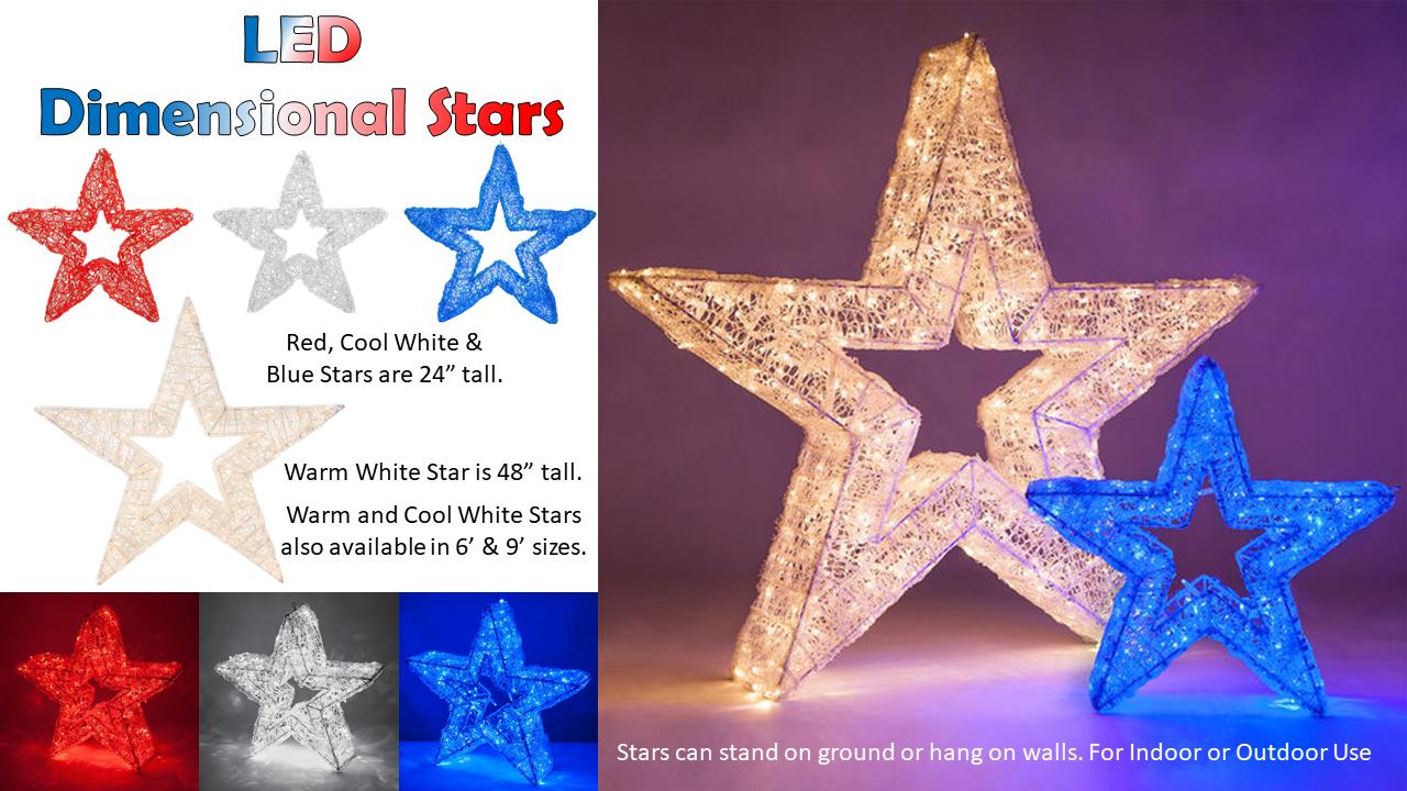 LED Dimensional Stars