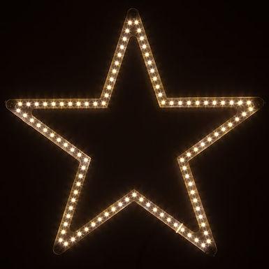 Ultra Bright SMD 5 Point Star Light, Warm White Lights