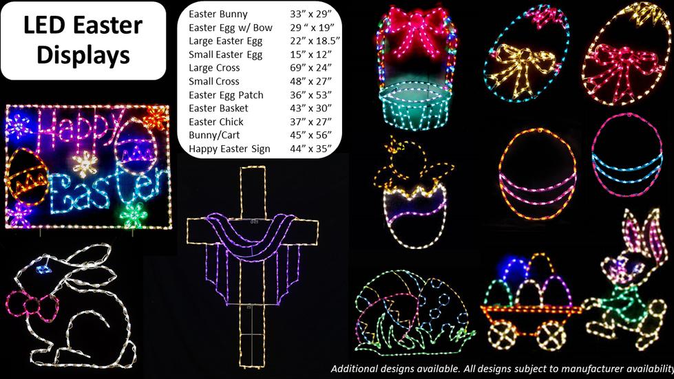 LED Easter Displays