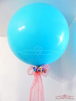 Single Balloon & Silk Flowers