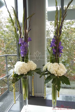 Set Of Purple & White Flowers