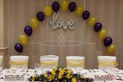 Love balloons display