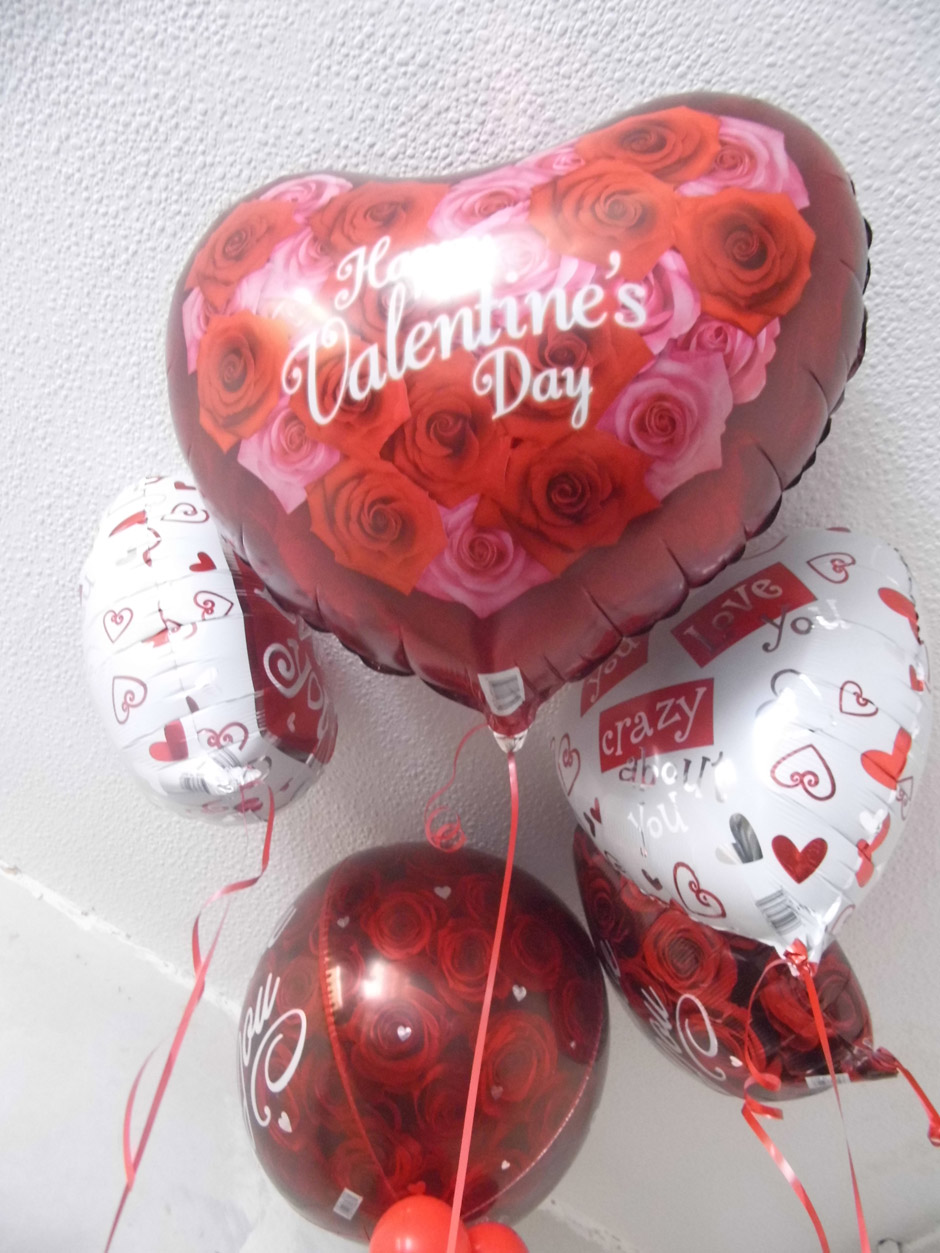 Various Valentines Single Balloons