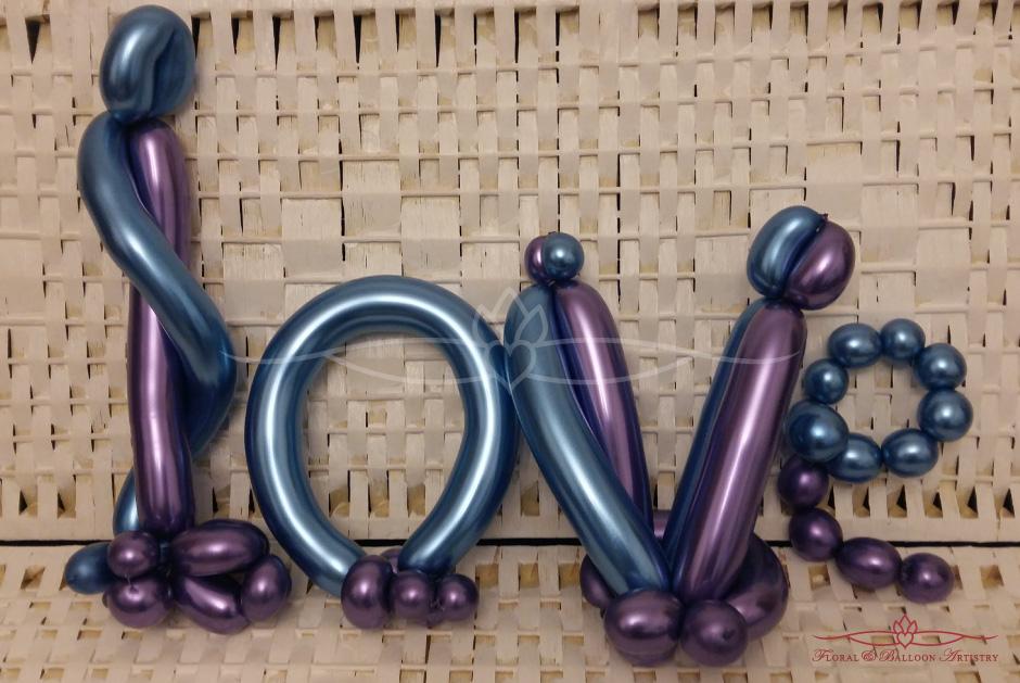 Love - Metallic Balloons