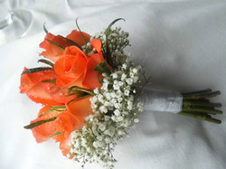 Coral Bridesmaid Bouquet