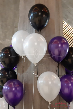 Purple, White & Black Balloons