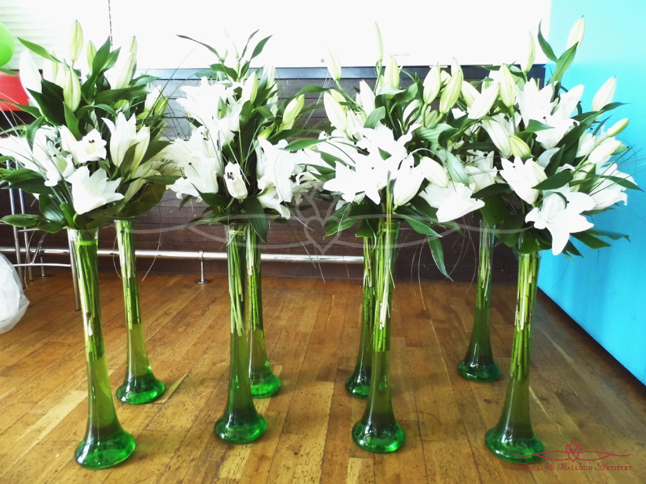 Table Flowers & Vases