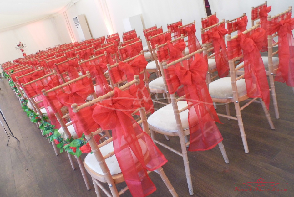 Autumn Wedding Marquee - Chairs