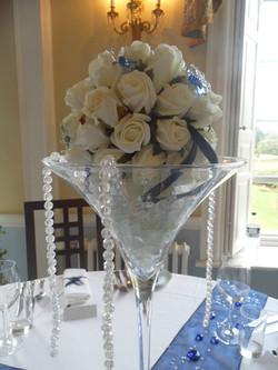 Silk Flower Table Display