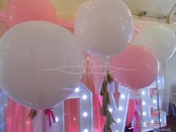White & Pink Balloons