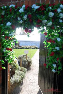 Autumn Marquee Door Flowers