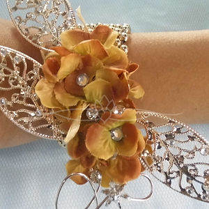 orange corsage