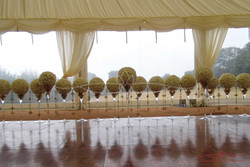 Marquee and Flower Display