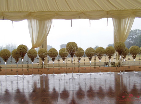 Creating Floral Designs for A Marquee