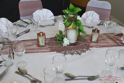 Classic white wedding table decor