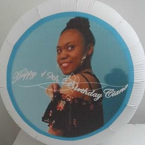 personalised balloon happy birthday