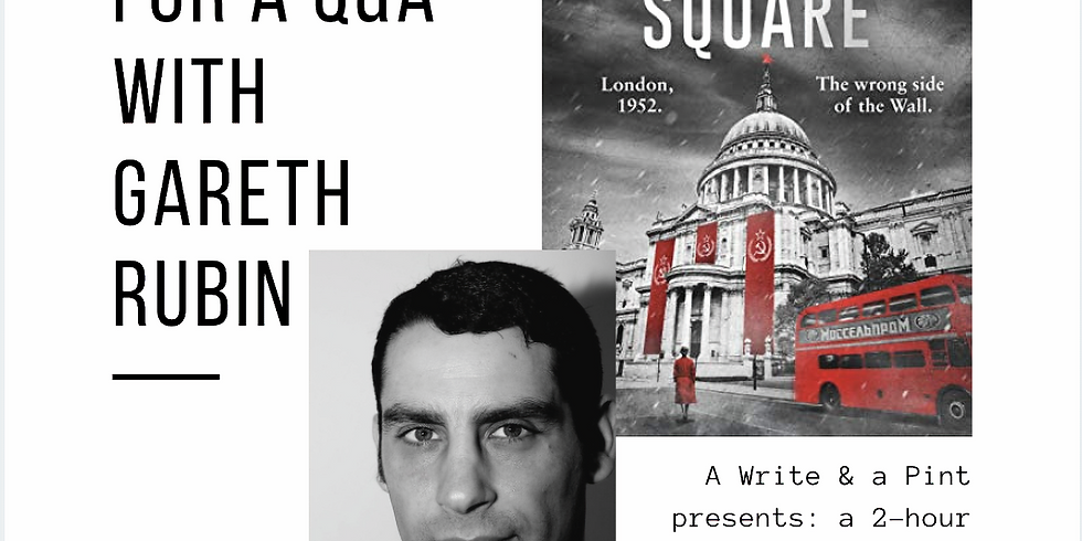 Thriller Writing + Q&A with author, Gareth Rubin + a *signed copy of his book*
