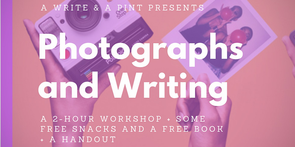 *SPECIAL PRICE* Photographs & Creative Writing + a FREE book & some FREE snacks! Sean