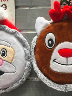 Holiday Large Disk Squeaker Pet Toys