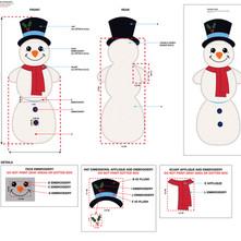 Snowman Flattie Pet Toy