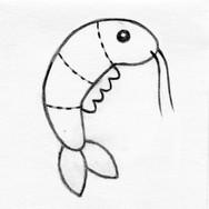 Shrimp Plush Cat Toy #2