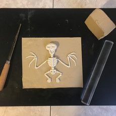 Bat Skeleton Mold Prep