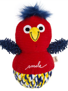 Parrot Plush Rope Ball Pet Toy
