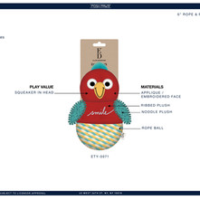 Parrot Plush Rope Ball Pet Toy Sell Sheet