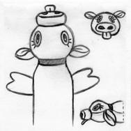 Cow Bottle Cruncher Pet Toy