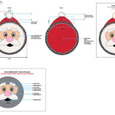 Santa Large Disk Squeaker Pet Toy