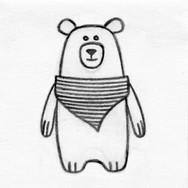 Bear 3D Plush Pet Toy