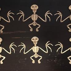 Six Painted Bat Skeletons