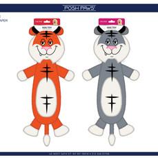 Tiger Flattie Pet Toy